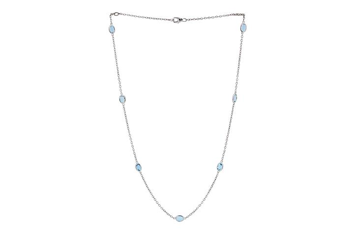 Aquamarine Silver Mitzvah necklace