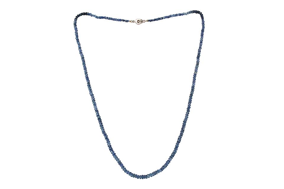 Blue Sapphire Bead Necklace