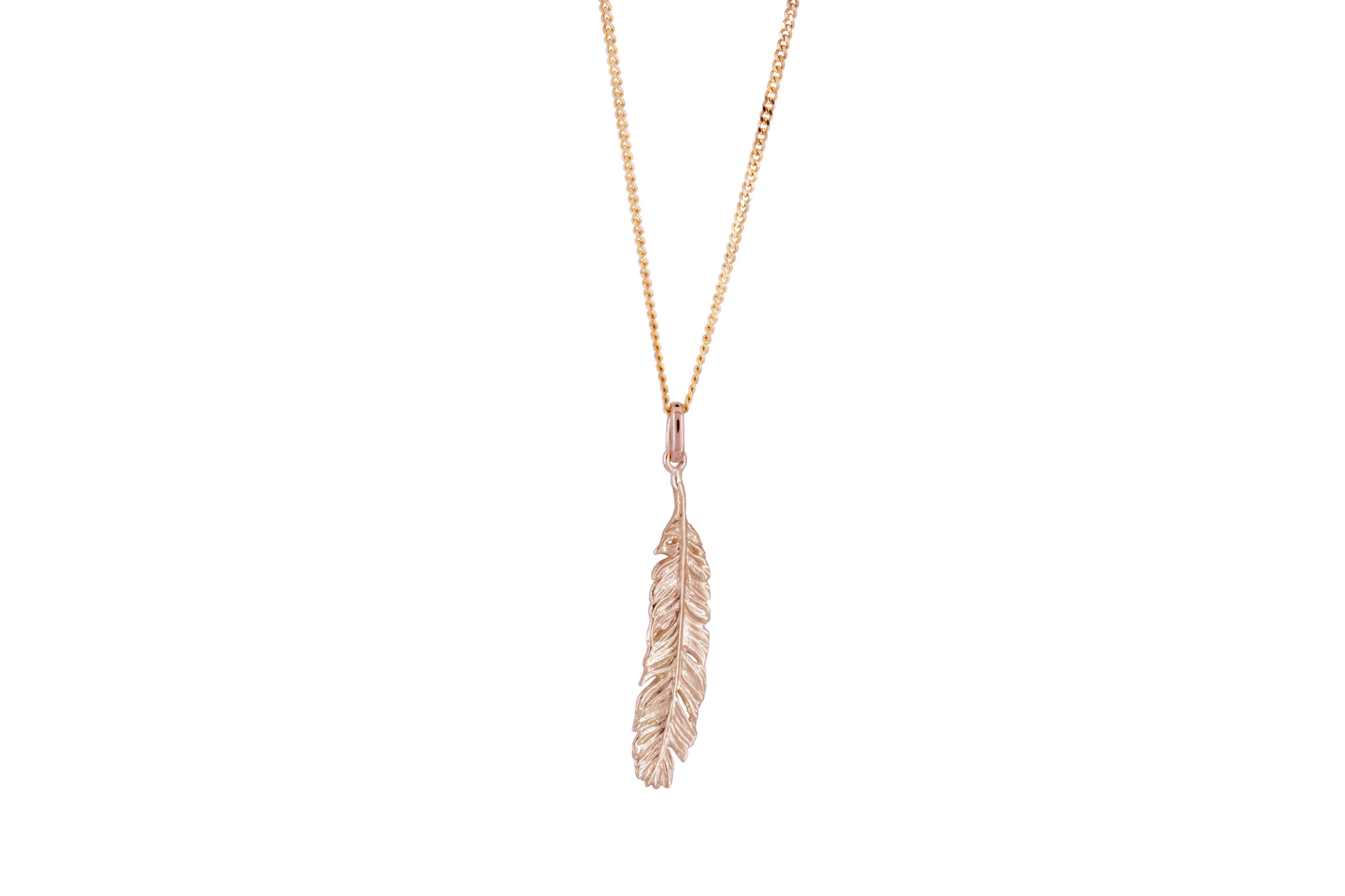 Long feather in 9ct Rose Gold