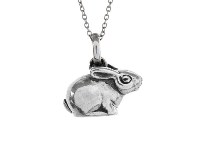 Silver Riverine Rabbit Pendant