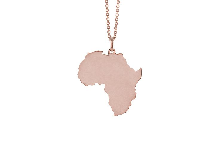 Africa Pendant in 9ct Rose Gold (med)