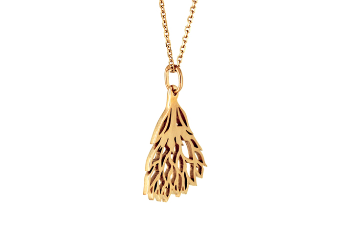 Protea Pendant in 9ct Yellow Gold