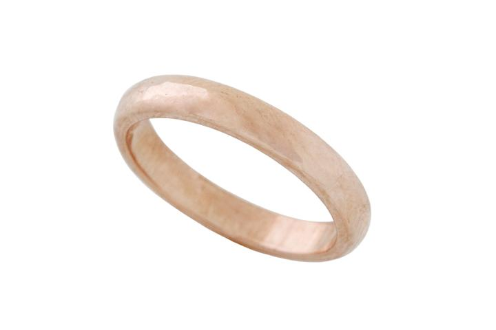 Rose Gold Hammered texture Ring