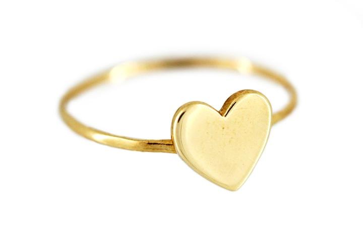 9ct Yellow Gold Midi Heart Ring