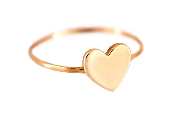 9ct Rose Gold Midi Heart Ring