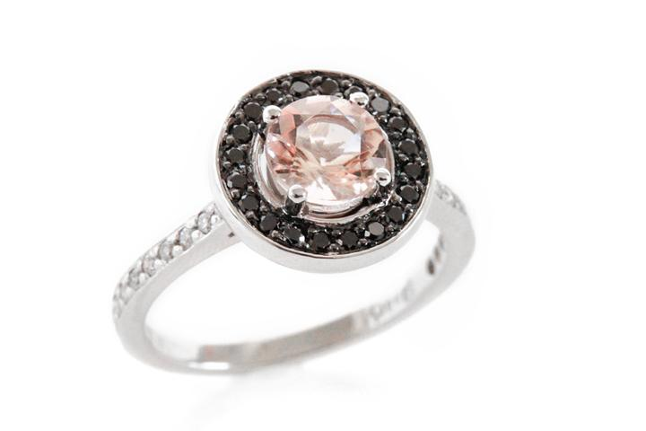 18ct White Gold, Morganite and Diamond Ring - 50% OFF!
