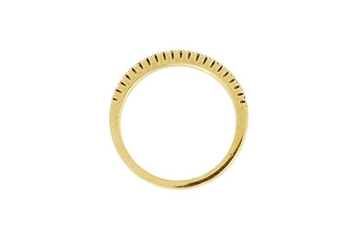 Yellow Gold & Diamond Half Eternity Ring