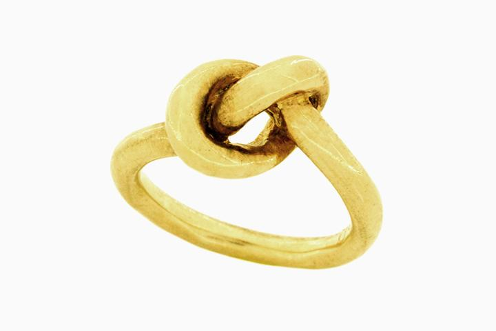 Yellow Gold Gilded Silver Knot Ring (bold)
