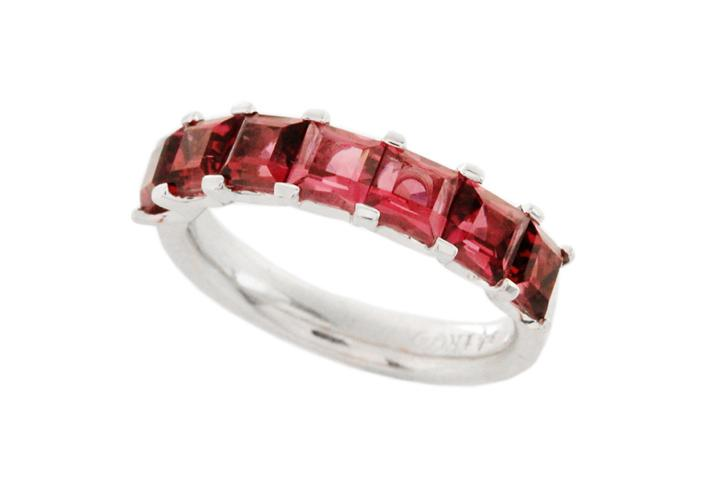 9ct White gold Pink Tourmaline ring