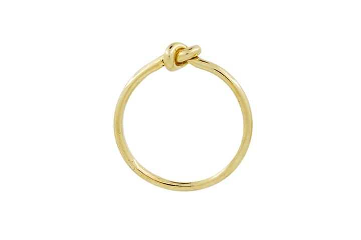 Knot Ring in Sterling Silver, Gilded with Yellow Gold (fine)