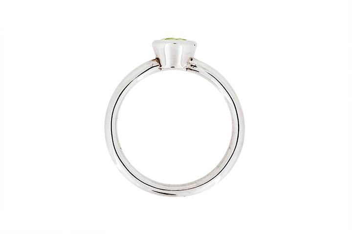 Peridot Silver Stacking Ring