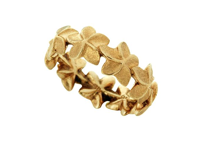 Frangipani Eternity Ring in 9ct Yellow Gold