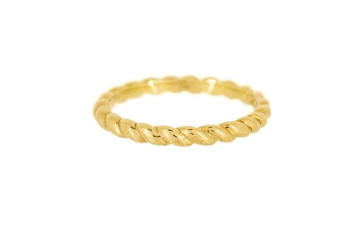 9ct Yellow Gold Twisted Stacking Ring