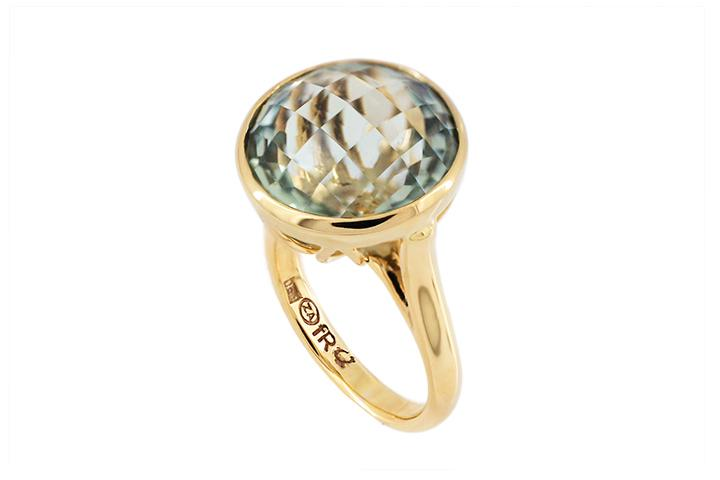 Prassiolite 9ct Yellow Gold Ring