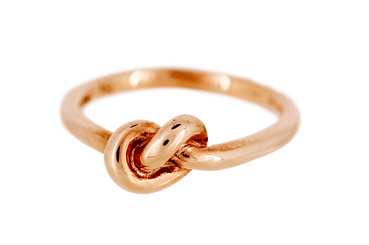 Knot Ring in Rose Gilded Silver (medium)