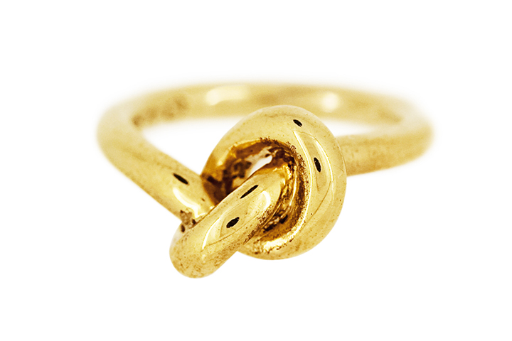 Knot Ring in Yellow Gilded Silver (bold)