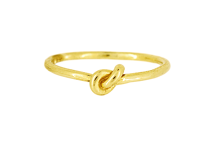 Knot Ring in Yellow Gilded Silver (fine)
