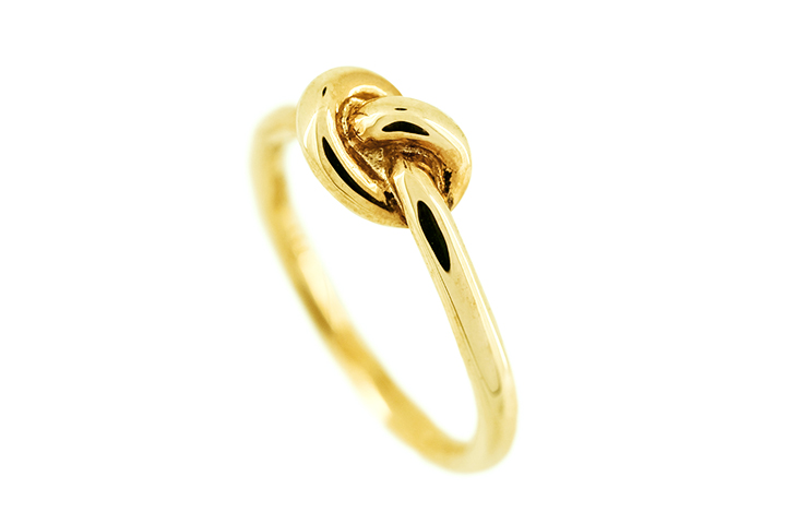 Knot Ring in Yellow Gilded Silver (medium)